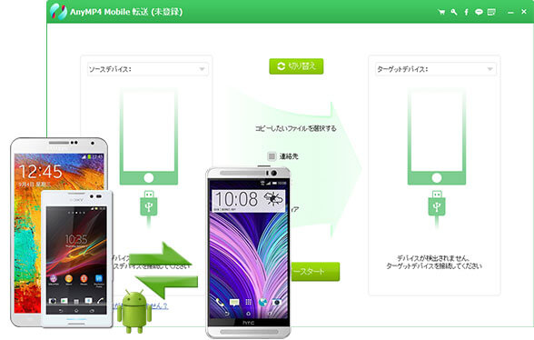 AndroidデバイスとiOSデバイス間